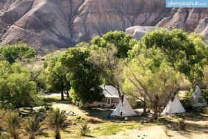 Luxury Tipis in Ancient Desert Hills of the Mojave Desert, Death Valley, California
