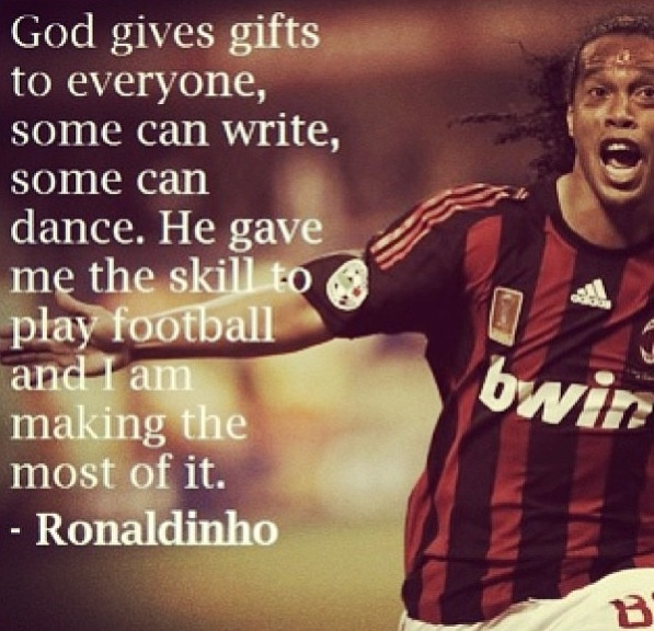 Ronaldinho, one of the greatest football idols I've ever had. thank you for making me to fall in love with this beautiful game. #legend