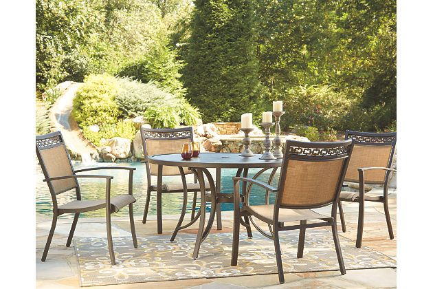Carmadelia 5-Piece Outdoor Round Dining Set by Ashley HomeStore,