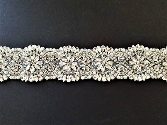 Wedding Belt Bridal Sash Belt  Crystal Pearl Wedding Sash