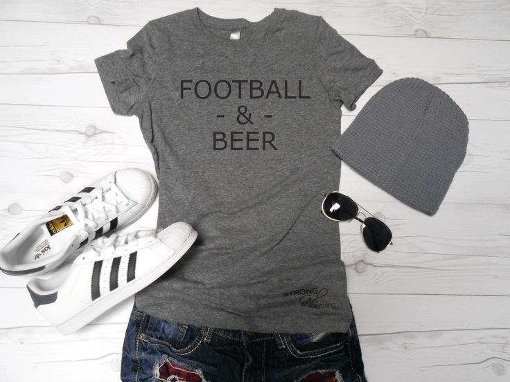 Womens Football and Beer Shirt. Super Bowl Shirt. Football Game Shirt. Tailgating Shirt. Football Tailgate. Super Bowl Party Shirt by StrongGirlClothing on Etsy https://www.etsy.com/listing/491180962/womens-football-and-beer-shirt-super