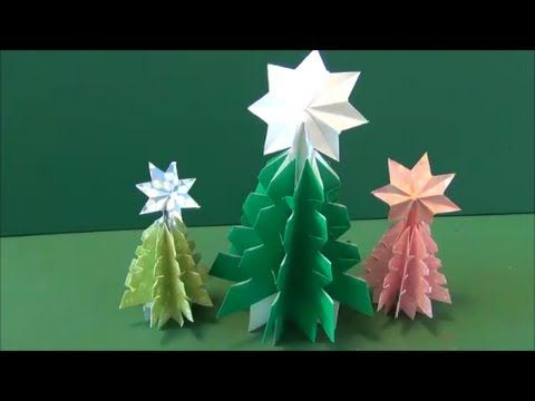 """5分で簡単!「クリスマスツリー」折り紙Easy at 5 minutes! """"Christmas tree"""" origami"""