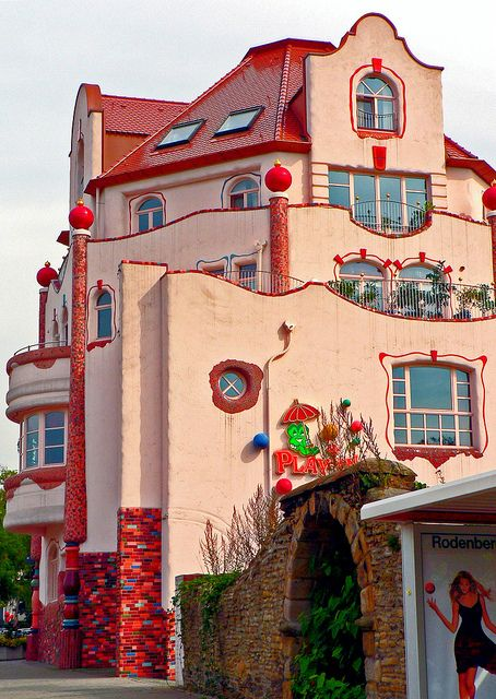 House In The Style Of Hundertwasser, Dortmund Aplerbeck, Germany | Photo By  Polybert49 On