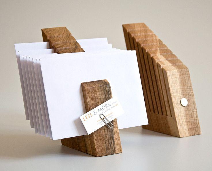 Letter Holder Wood Mail Organizer Desk Organization OSCAR. $74.00, via Etsy.