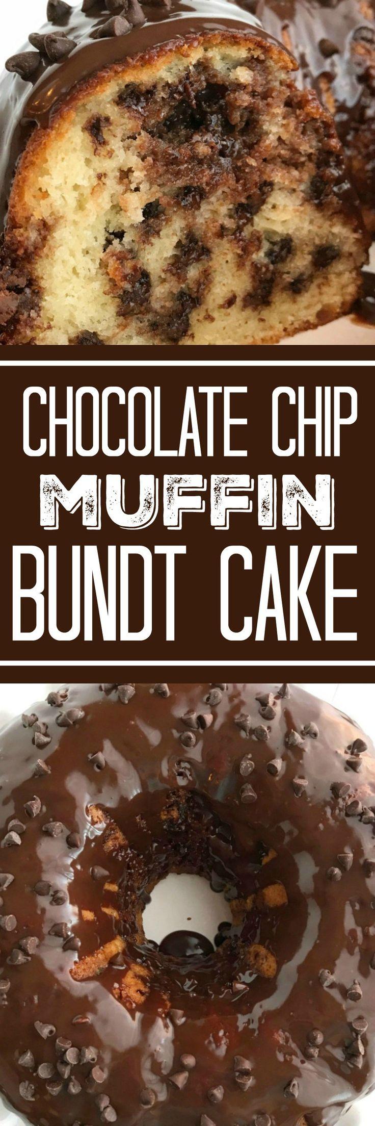 Chocolate Chip Muffin Bundt Cake