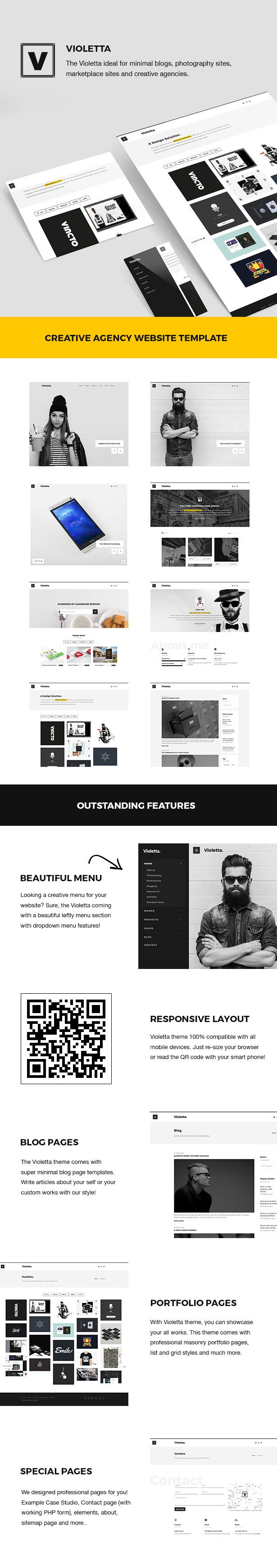 Violetta | Creative Agency Minimal Responsive WordPress Theme #wordpress #blog #cv • Download theme ➝ https://themeforest.net/item/violetta-creative-agency-minimal-responsive-wordpress-theme/18763454?ref=pxcr