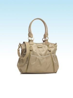 Storksak Olivia Champagne Changing Bag | Nursery Furniture | Baby Accessories Ireland | Cribs.ie