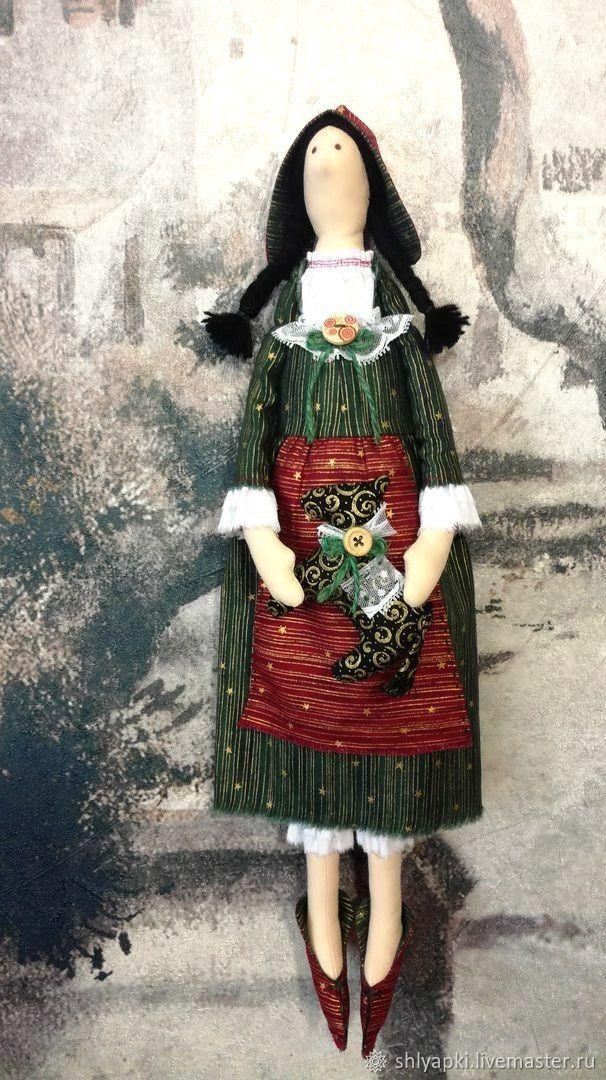 Купить Кукла Тильда гномочка новогодняя в интернет магазине на Ярмарке Мастеров