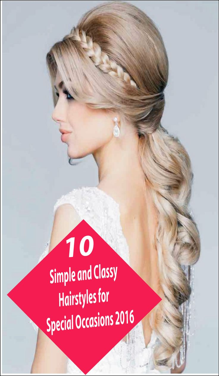 Simple Hairstyle For Occasion : Ideas about classy hairstyles on easy