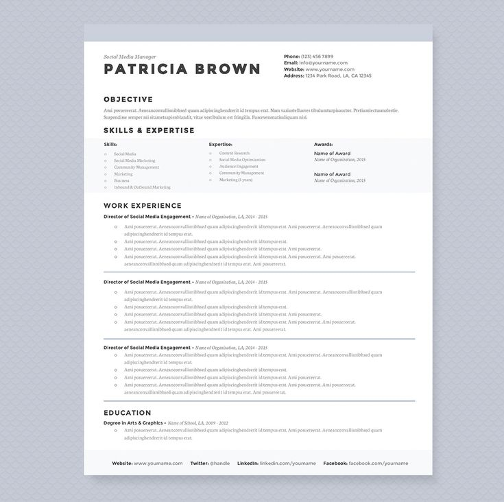 35 Best Resume Template Designs Images On Pinterest | Cv Template