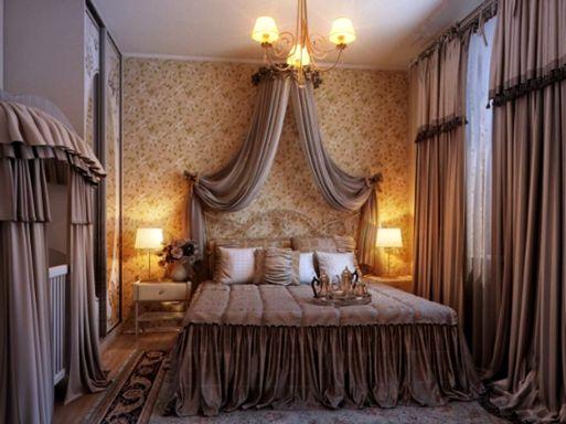 desain kamar tidur bertemakan romantis