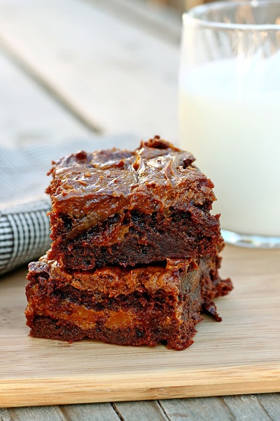 Dulce de Leche Brownies....these may just be the best brownies I've ever had.
