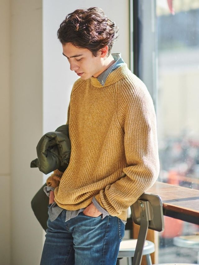 Men Middle Gauge Knit Mock Neck Jumper | UNIQLO in 2020