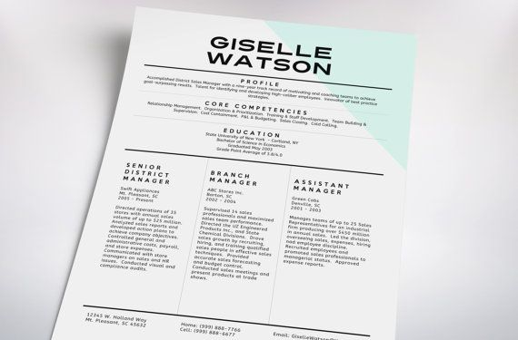 CLASSY resume cover letter // TEMPLATE no. 5 by taupeisdope