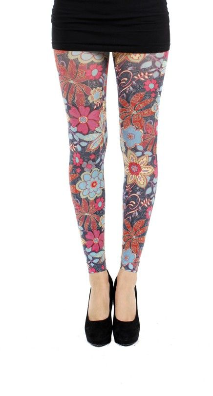Zesty Printed Footless Tights - Pamela Mann