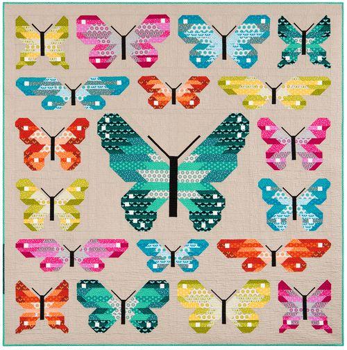 Lepidoptera quilt by Elizabeth Hartman