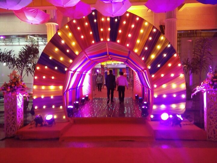 Satrangi entrance #sangeetdecor #themedecor   Celebells Events Pick a date. Leave the rest on us. www.celebells.com