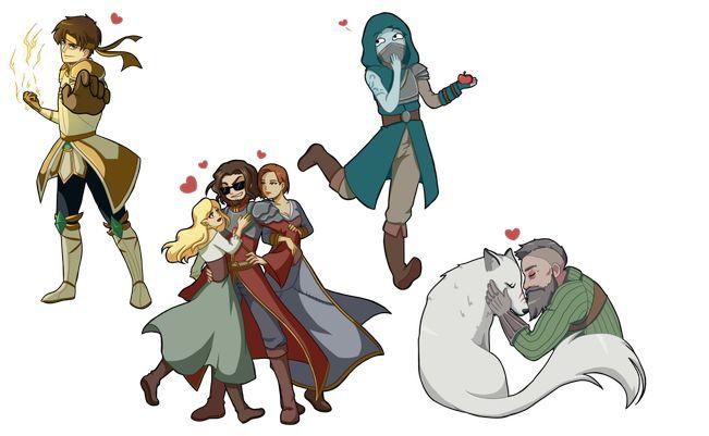 Theo défonce tout, Bob drague et crame tout, Shin bouffe des pommes et gèle tout et grunlek aime son loup et son bras bouffe tout le monde !