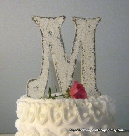 Rustic Wood Monogram Wedding Cake Topper Wedding Cake Toppers