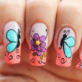 Decoracion de uñas mariposas-1