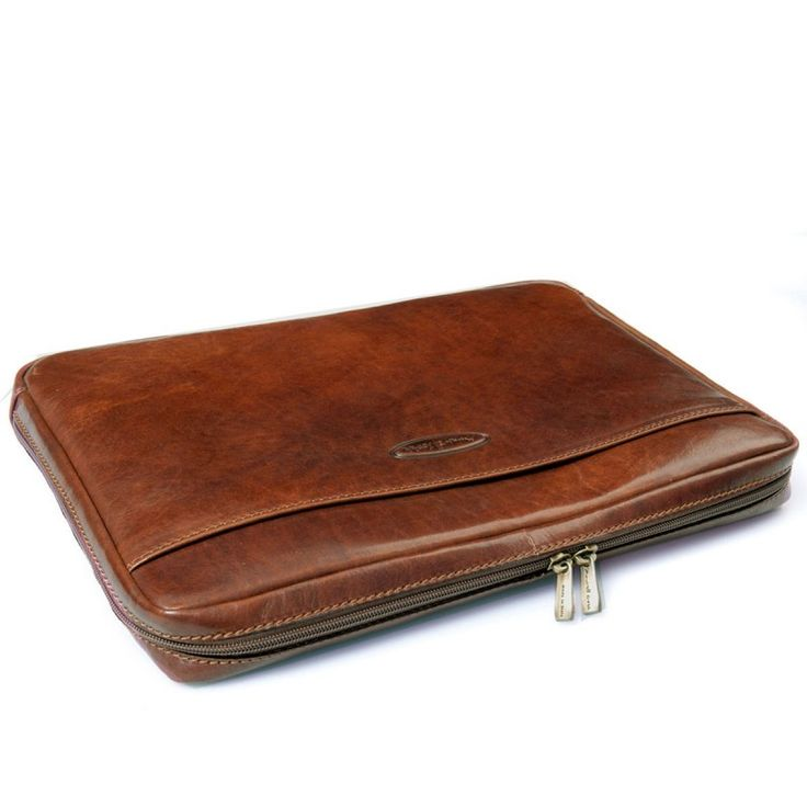leather laptop sleeve for 17 inch laptop | ... Leather Laptop Cases Tan 17 inch Leather Notebook Case (Davoli