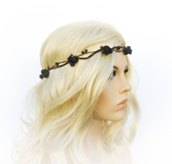 17 Best Ideas About Black Flower Crown On Pinterest: 25+ Best Ideas About Rose Headband On Pinterest