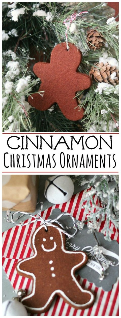 Make these cute cinnamon Christmas tree ornaments with only two ingredients! This would be a wonderful holiday tradition to do with your kids and they will smell so good for years to come!