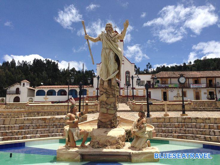 monumento a Bochica cultiva enmicolombiaCUITIVAboyaca
