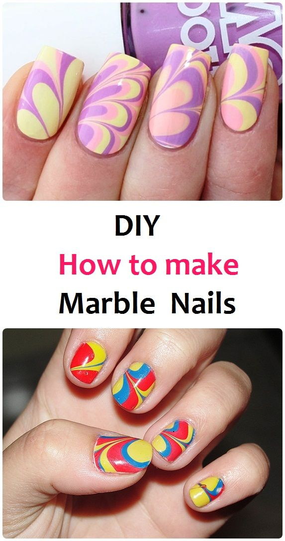 DIY How to make Marble Nails ==