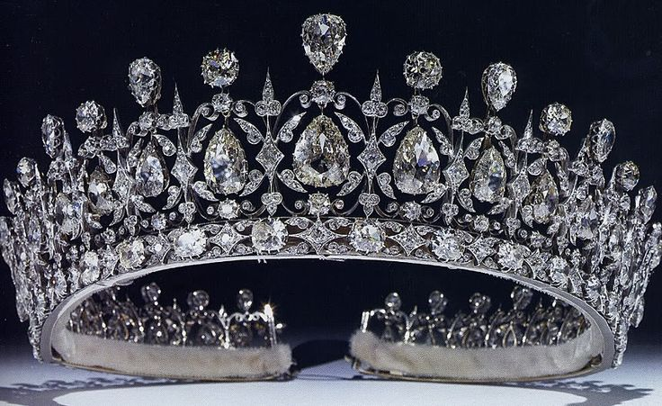 The Fife Tiara  The Fife Tiara first belonged to Princess Louise of Wales, the oldest daughter of King Edward VII and Queen Alexandra. A wedding present on her marriage to the Earl of Fife (later Duke) in 1889,  this stunning tiara has pear-shaped diamonds hanging freely in a diamond framework, topped with more pear-shaped diamonds alternating with round diamondsThe Duchess, Wedding Gift, Queens Victoria, Diamonds, Fife Tiaras, Crowns Jewels, Jewelry, Princesses, Royal Jewels