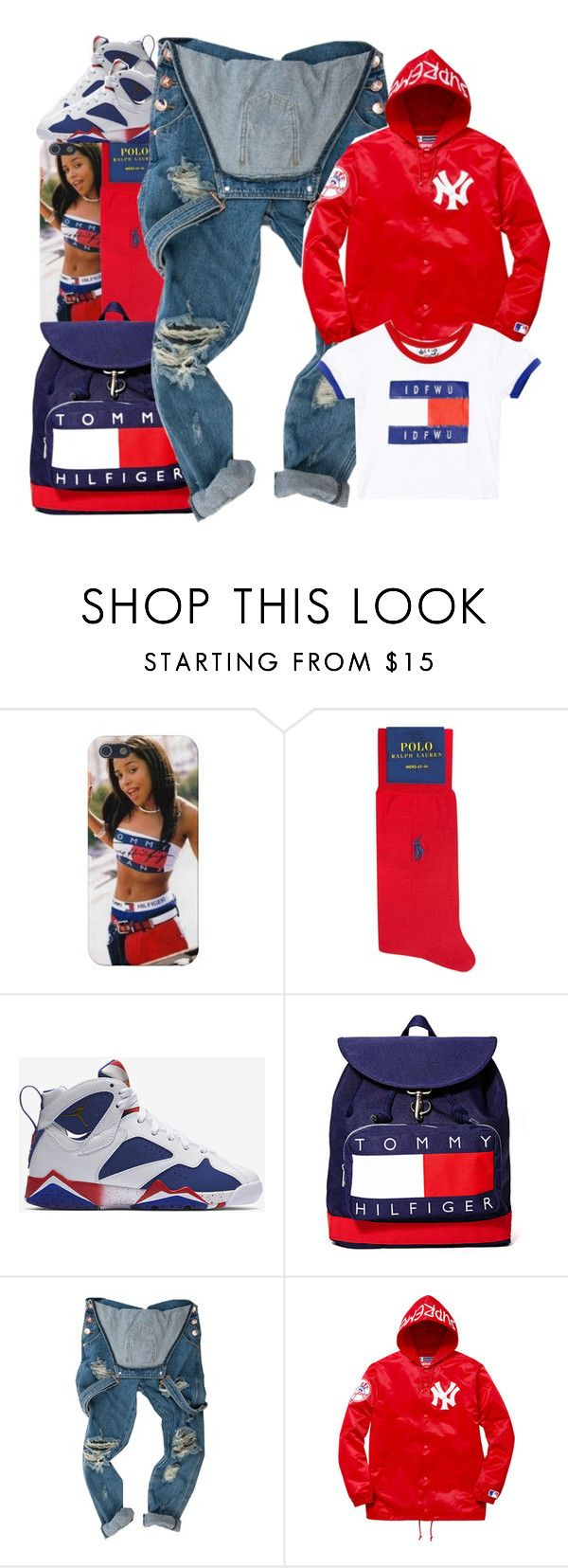"""FWTK"" by b-a-b-y-g-ii-r-l ❤ liked on Polyvore featuring Ralph Lauren, NIKE, OneTeaspoon and Supreme"