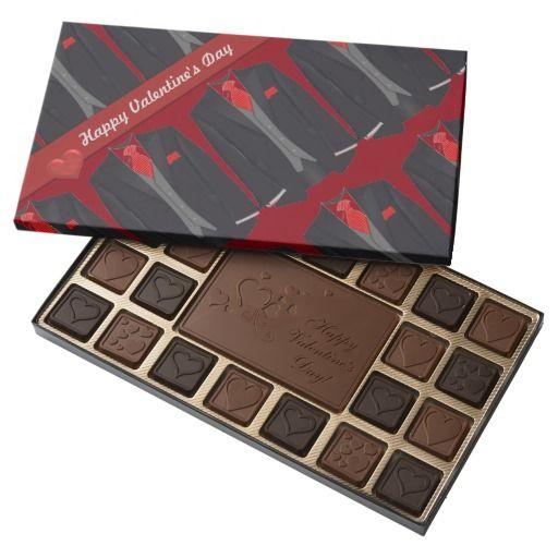 Valentine's Day Men's Black Suit 45 Piece Box Of Chocolates