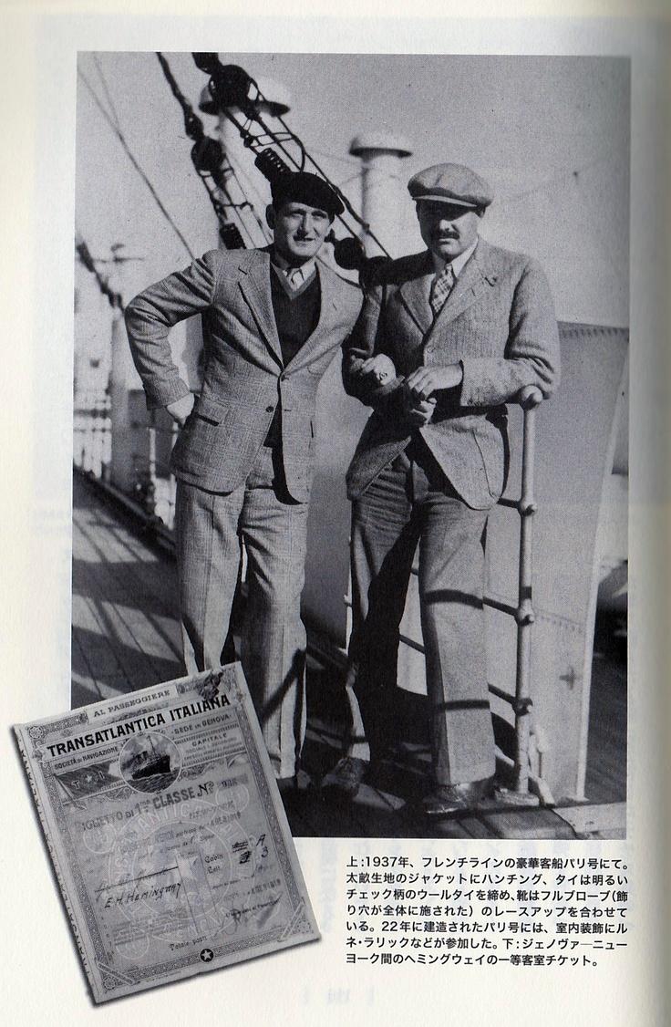 Hemingway & Dress code (jacket) on the ship  Dress Fashion / Hemingway Style  ヘミングウェイの愛用品/ファッション・ドレス篇 〜船上のドレスコード(ジャケット)〜