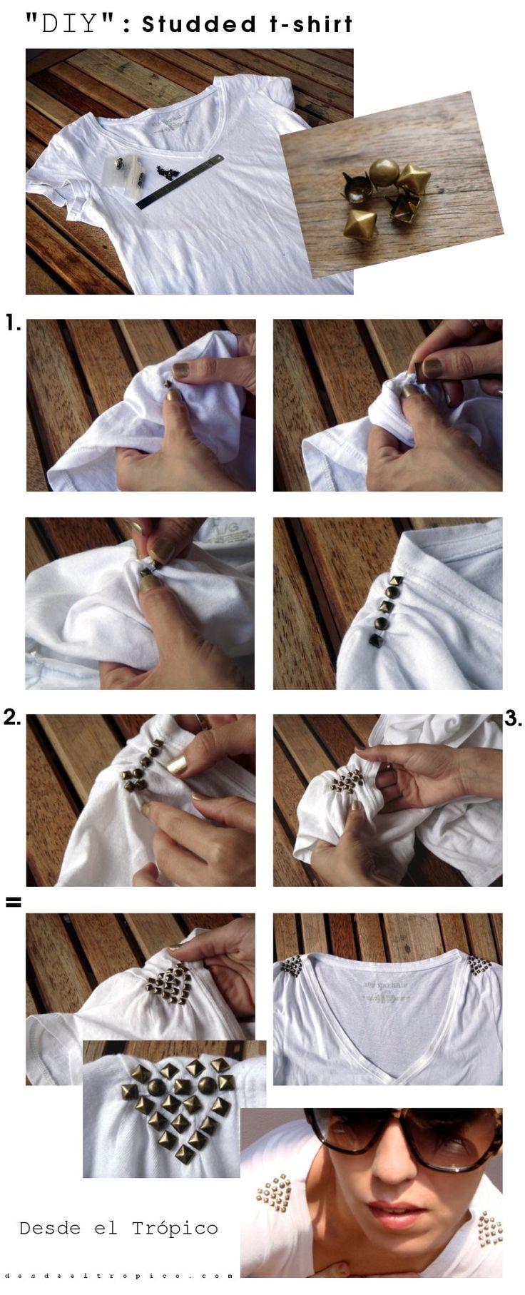 - camiseta con tachas-