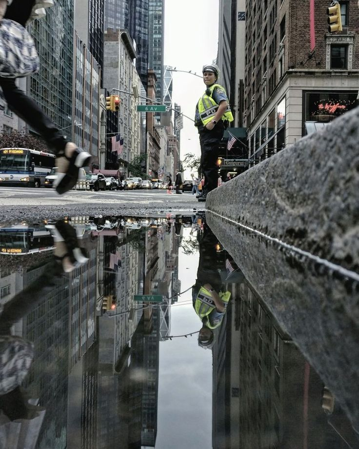 Best Street Photography Images On Pinterest Blues Early - Photographer captures the amazing reflections of puddles in new yorks streets
