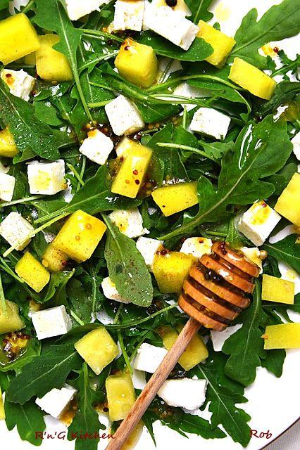 R'n'G Kitchen: Sałatka na rukoli, z arbuzem i serem feta