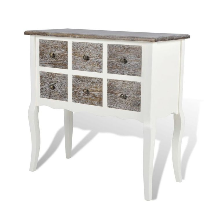 Cabinet Sideboard Console Table Hallway Entryway Wooden Furniture 6 Drawers Uk