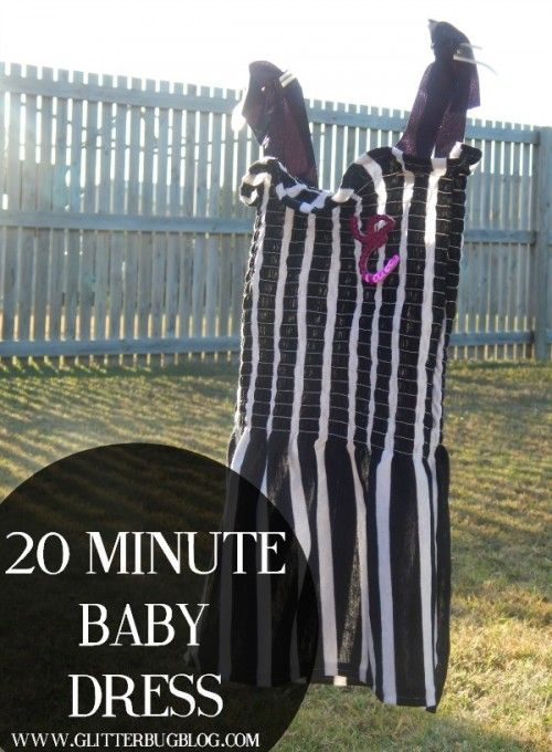 Cute baby girl dress tutorial. Easy sewing project you can finish in an afternoon!