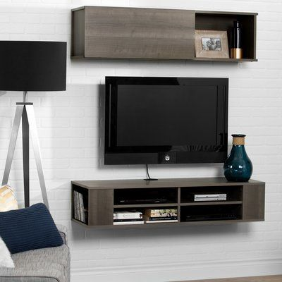 South Shore City Life Wall Mounted 48 Tv Stand Finish Wall