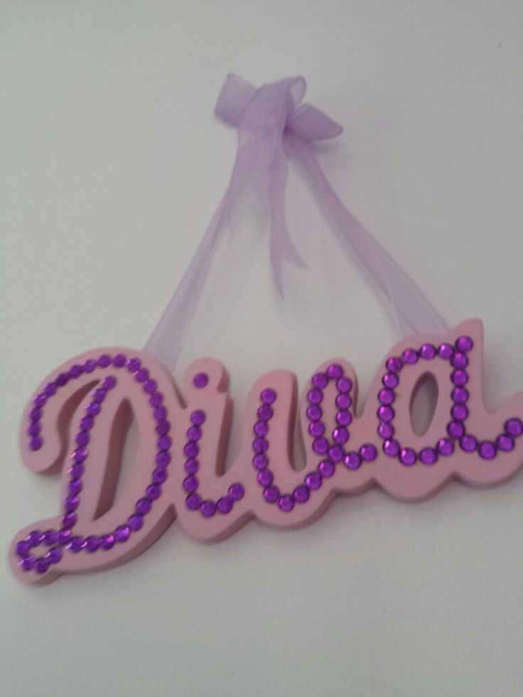 My diva wall sign