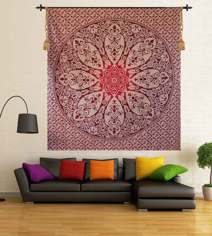 Dorm room hippie wall hanging tapestry. Perfect for topping a bed, couch, wall or your favorite chair.This Wall Tapestry can also be used as a: - Tapestry or a Wall Hanging, Bedspread, Bed Cover, Table Cloth, Curtain, Dorm Decor, Picnic Sheet Add an ethnic feel to your room with this cotton handmade wall hanging.