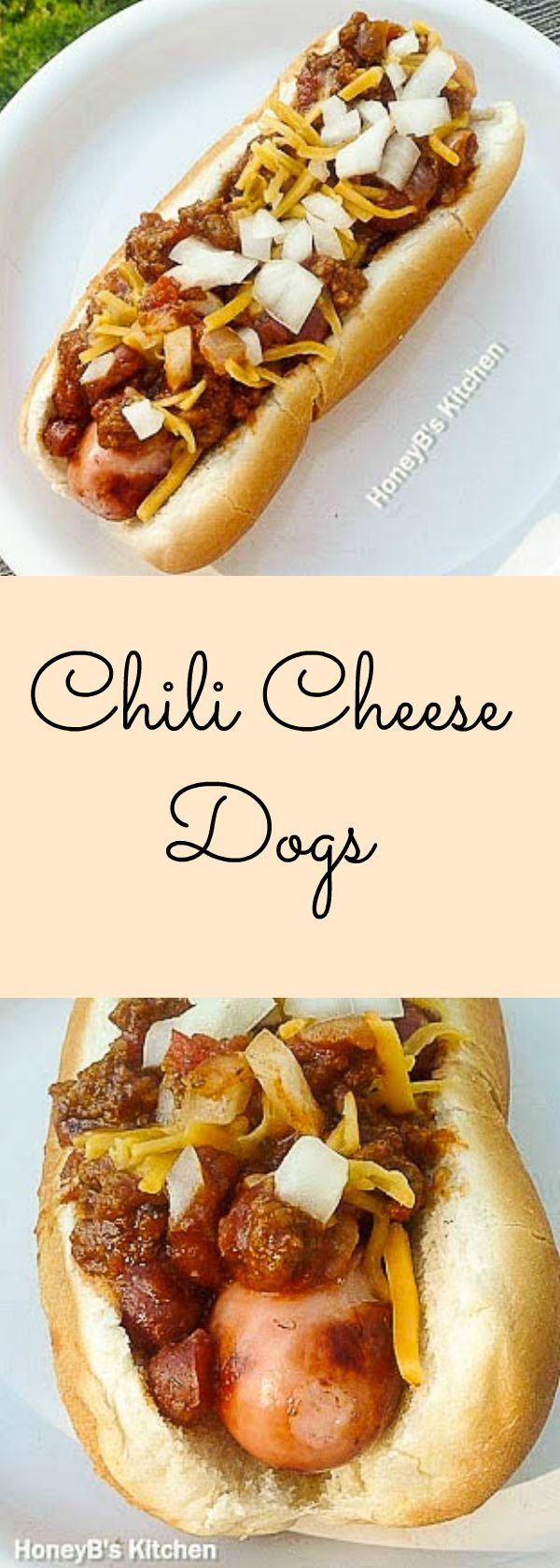 Buried in chili and covered with cheese and onions, Chili Cheese Dogs are easy to make delicious dinner treat for your family!