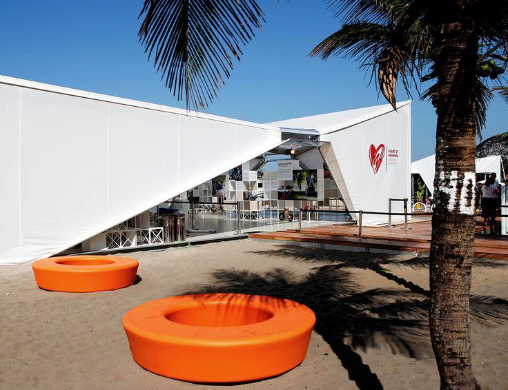 LOOP Light at Impanema Beach at the 2016 Rio Olympics! Used as seating outside the Danish Pavillion, designed by Henning Larsen Architects. (photo: Fransisco Alves de Souza / VisitDenmark)