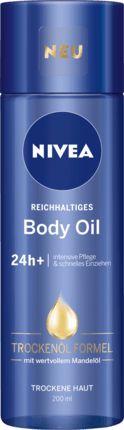 NIVEA Reichhaltiges Öl mit wertvollem Mandelöl hat eine innovative Trockenöl-Formel. Die Formel zieht schnell ein und hinterlässt ein angenehm trockenes,...