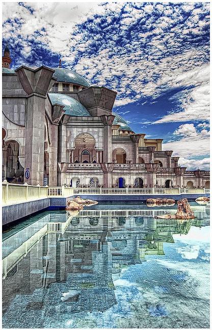 The Federal Territory Mosque or Masjid Wilayah Persekutuan is a major mosque in Kuala Lumpur, Malaysia.