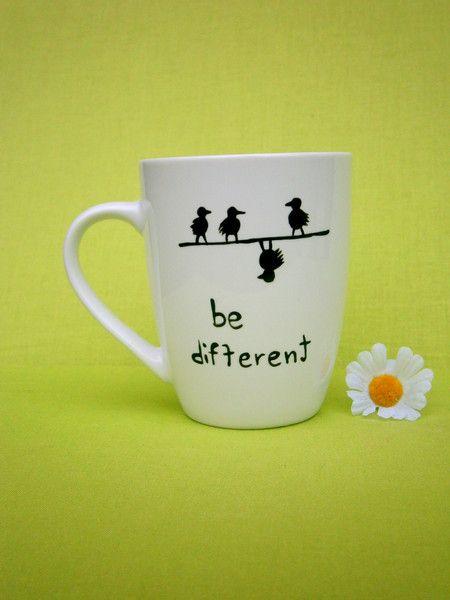 Becher & Tassen - Tassen mit Spruch ♥ SpruchTASSEN be different - ein Designerstück von Hoch-Die-Tassen bei DaWanda