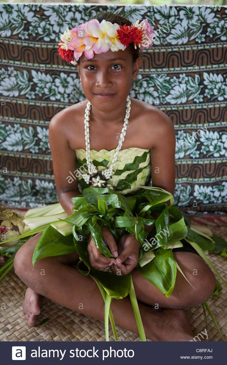 Girl On Tuvalu, Island In The Pacific. (mr Stock Photo, Royalty Free Image: 39854938 - Alamy