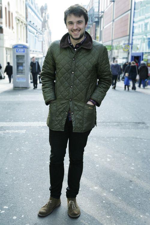 'We met James in Leeds sporting his Olive Barbour Liddesdale quilted jacket…