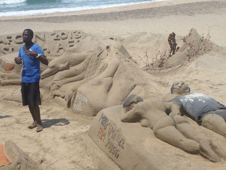 Sand sculpture, Durban, South Africa (2013)