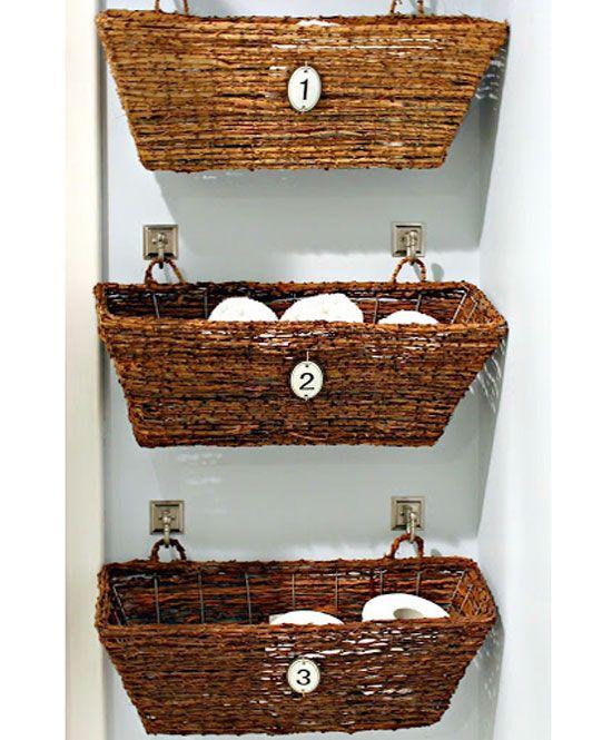DIY Basket Storage in Bathroom | DIY Bathroom Organization Ideas